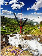 "Настенные часы МДФ  ""Пейзаж"" кварцевые, фото 1"