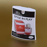 Мужская туалетная вода Lacoste Style In Play Pour Homme в кассете 50 ml (трапеция) ASL
