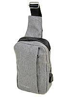 Мужская сумка на плечо Lanpad 815-1 мини рюкзак через плечо с карманом и USB 17*24*7 см, фото 1