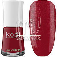 Лак для ногтей Kodi Professional №020, 15 мл красно-малиновый с шиммером