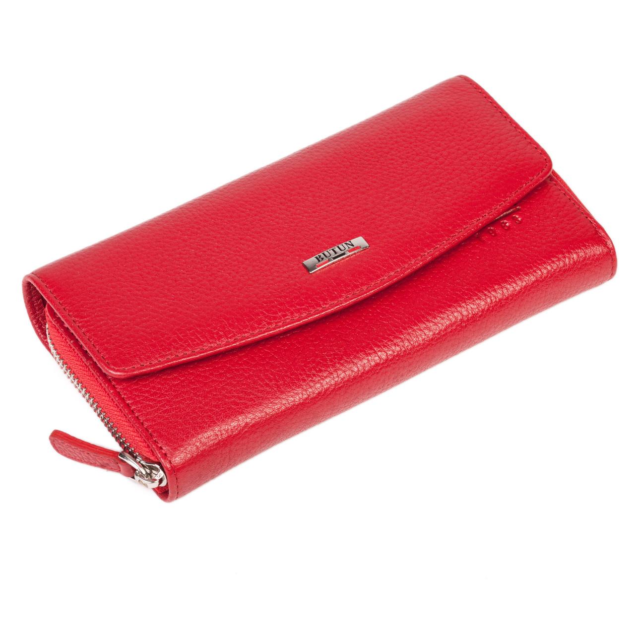 Женский кошелек Butun 609-004-006 кожаный красный