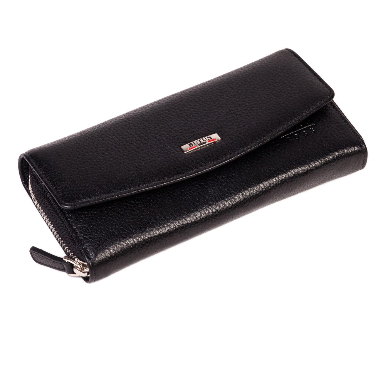 Женский кошелек Butun 609-004-001 кожаный черный