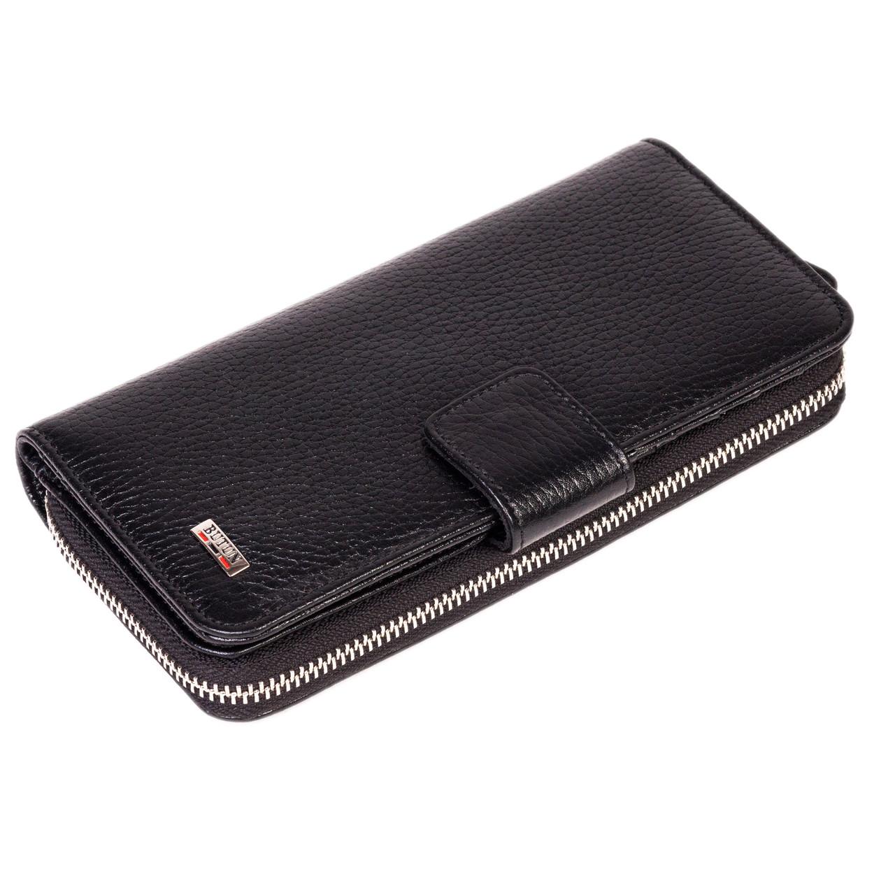 Женский кошелек Butun 636-004-001 кожаный черный