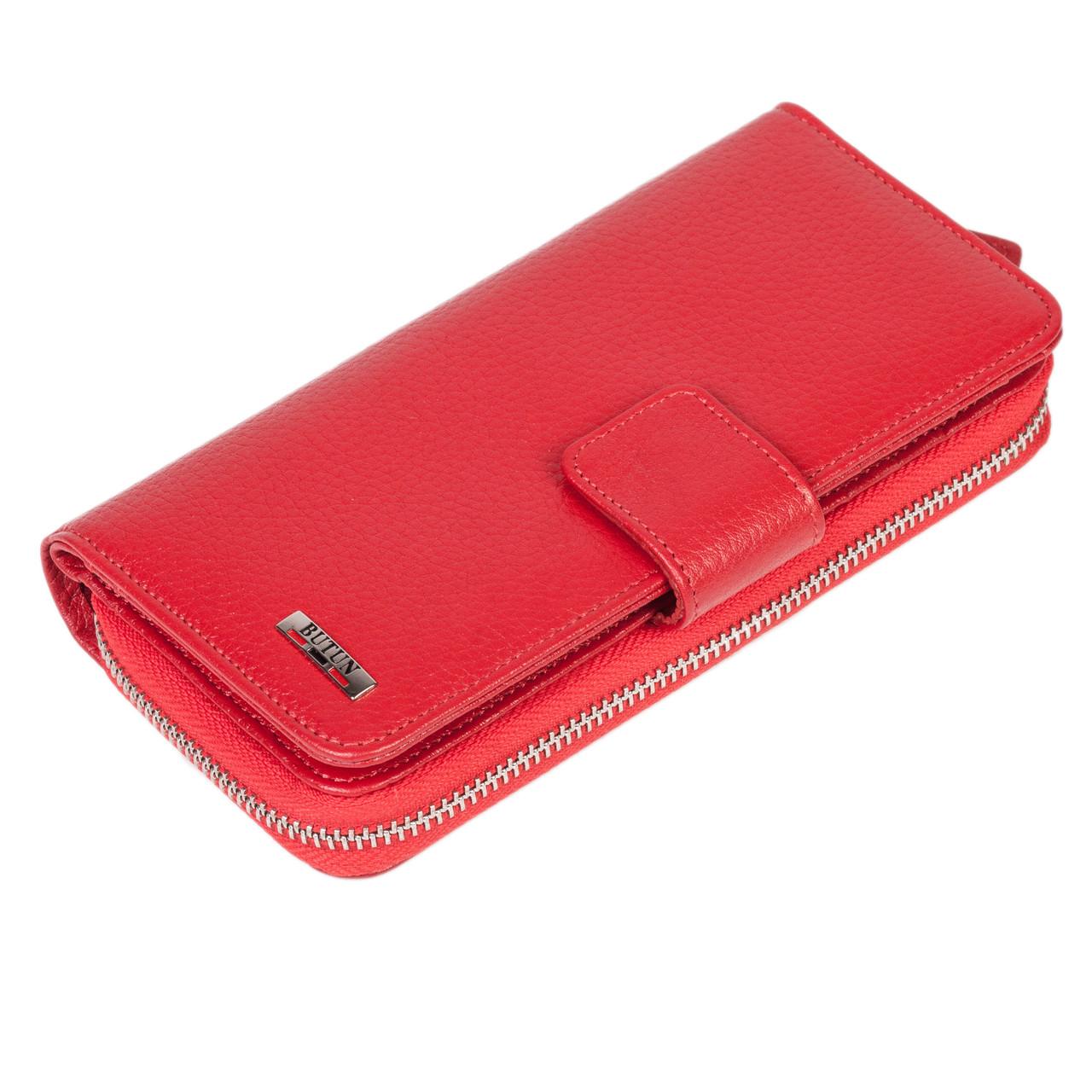 Женский кошелек Butun 636-004-006 кожаный красный
