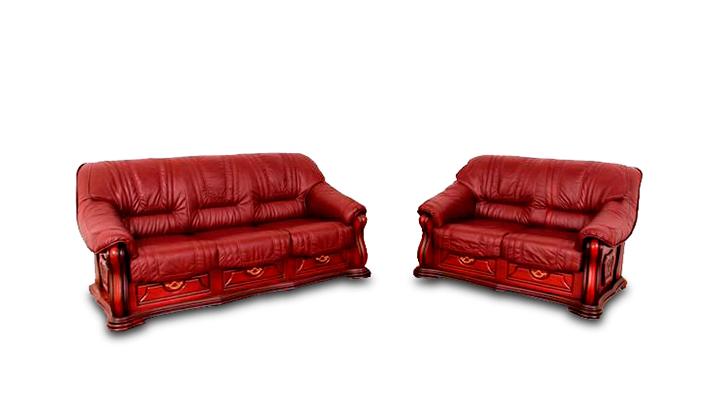 Кожаный двухместный диван Лорд