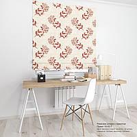 Римская штора с принтом газеты и ретро