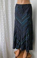 Юбка женская длинная макси синяя бренд Principles р.50