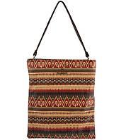 Женская молодежная сумка - планшет с принтом.