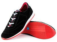 Кросівки чоловічі замшеві демісезонні чорні 45 розмір Мида 110719-249