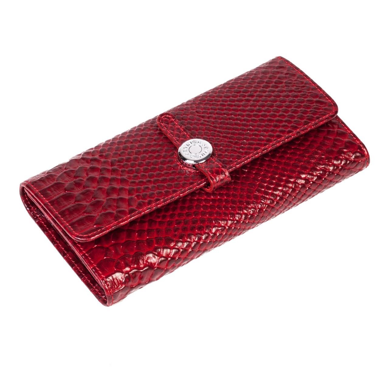 Женский кошелек Eminsa 2114-21-5 кожаный красный