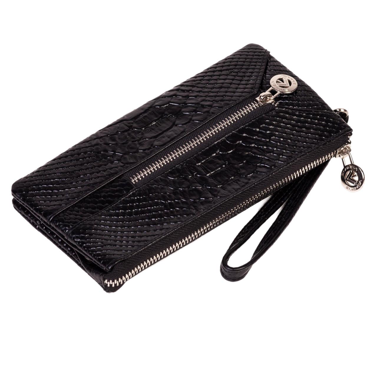 Мужской кошелек клатч Eminsa 2123-21-1 с отделением для ключей черный