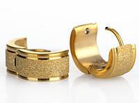 Женские серьги ювелирная сталь и позолота
