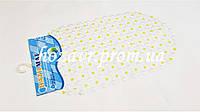 """Коврик на присосках противоскользящий """"Точка"""" (жёлтый) K001"""