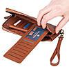 Женский кошелек Eminsa 2104-3-2 кожаный светло-коричневый  , фото 5
