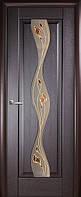 Дверь межкомнатная ламинированная Волна  грей,венге,ольха золотая,каштан,ясень ПВХ