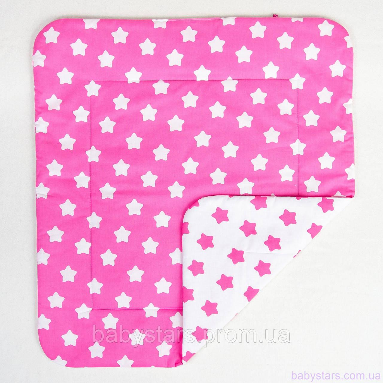 """Детские одеяла в кроватку для новорожденных 80х85 см, """"Розовые звезды"""""""