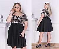 81fe782758e Женское расклешенное платье с лифом из ткани с пайетками. Размеры  48-50