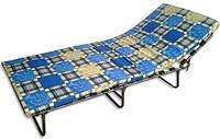 Раскладная кровать (раскладушка) с подголовником на ламелях