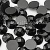 Камень клеевой круглый, 16 мм, черный