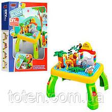 Конструктор-ігровий столик JIXIN зоопарк 3688A