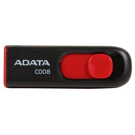 Флеш USB 2.0 ADATA C008 16GB Черный / Красный (AC008-16G-RKD), фото 2