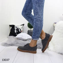 Женские туфли на ником каблуке ткань эко-замша