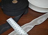 Резинка на основе текстильной лески, белая, ширина 3 см.