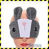 Маска для сну Silenta Кролик. Grey