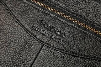 Сумка мужская кожаная Fonmor 9029-B черная eps-5054, фото 3