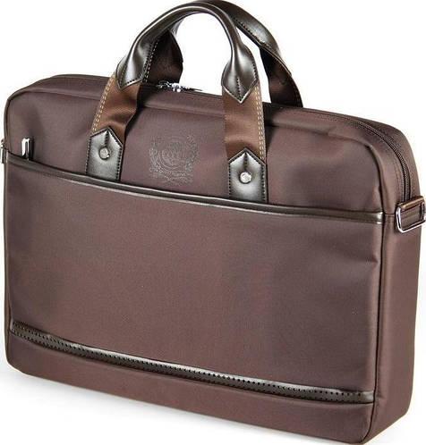 """Надежная мужская сумка для ноутбука 15,6"""" - 16"""" Continent CC-045 Black  черный, CC-045 Brown коричневый"""