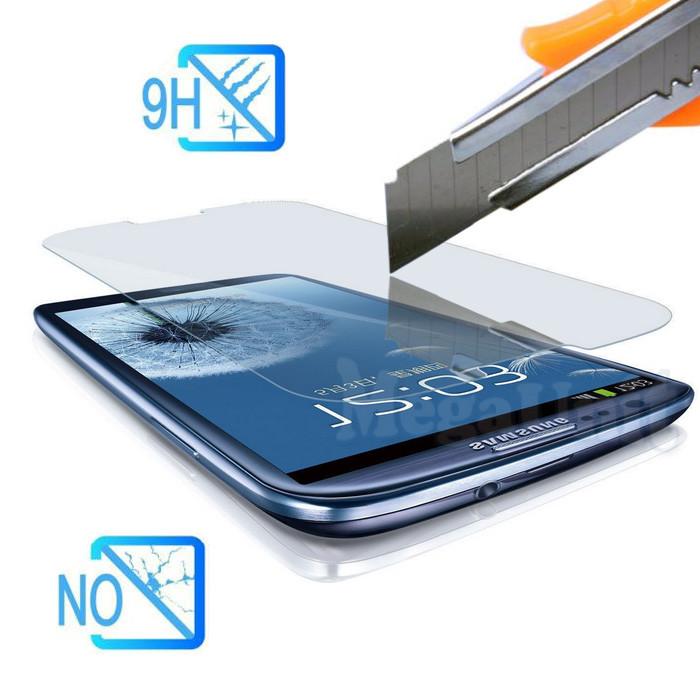 Защитное стекло для экрана Samsung Galaxy S3 i9300 твердость 9H, 2.5D (tempered glass)