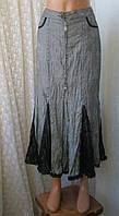 Юбка женская демисезонная серая бренд J.H.collection р.44-46