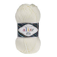 Alize Diva Plus молочный № 01