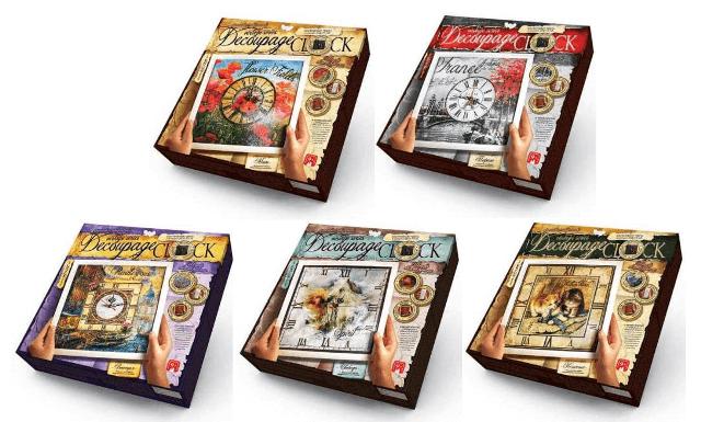 Набор Decoupage Clock Часы декупаж с рамкой Danko Toys