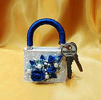 Свадебный замок любви (синий)