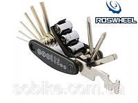 Набор инструмента / мультитул вело / велосипедный 16-в-1 BOI / Roswheel 22047-1
