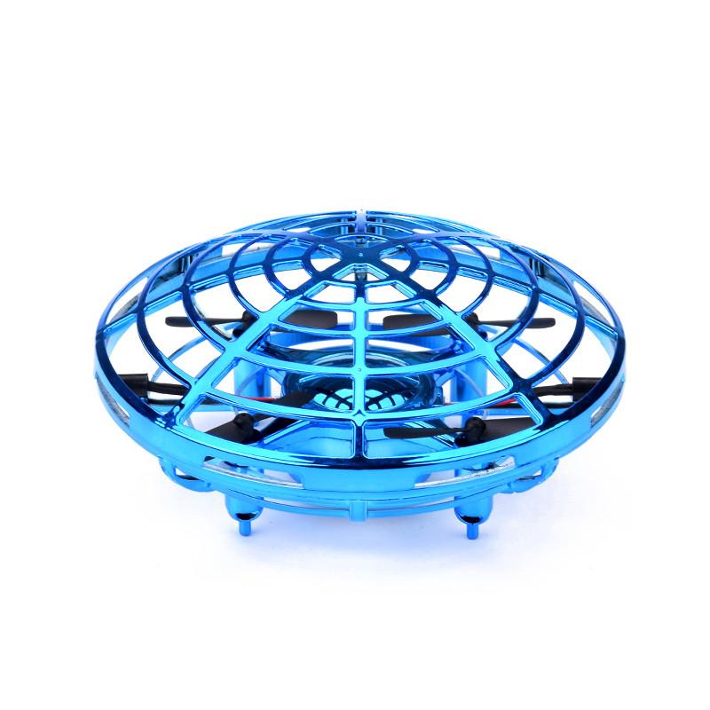 """Дитячий міні квадрокоптер SUNROZ Ufo Drone """"Літаюча тарілка"""" з сенсором Синій (SUN3426)"""