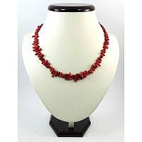 Ожерелье Коралл веточки красное, Изысканное ожерелье из натурального камня, Украшения из натурального камня