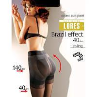 """Колготки Lores Колготки plus size моделирующие (с эффектом """"Push-up"""")  LORES (ЛОРЕС) DB-Brazil-effekt-40-n-XL"""