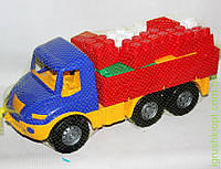 "Машина "" Атлантис "" бортовая №3: машина, конструктор ""Беби-Блок"" COLORplast"