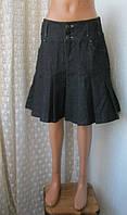 Юбка женская демисезонная джинс джинсовая черная бренд Esprit р.44