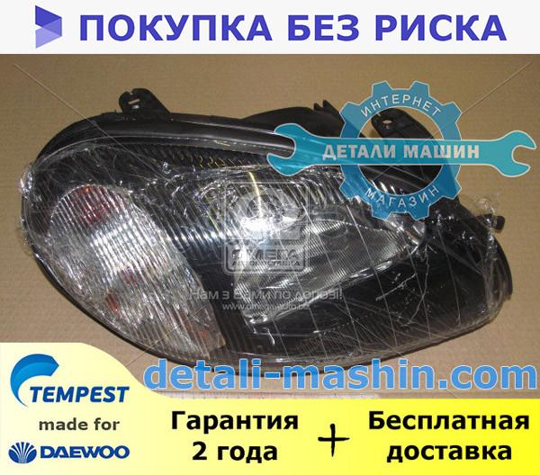 Фара электрическая правая (хромированный отражатель) Ланос (TEMPEST) DAEWOO Lanos 020 0139 R4C
