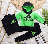 Детский теплый спортивный костюм тройка Неон на рост 80-98 см
