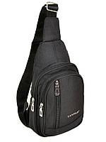 Мужская сумка на плечо Lanpad Р1-01806 мини рюкзак/бананка через плечо USB выход 19*30*9см, фото 1