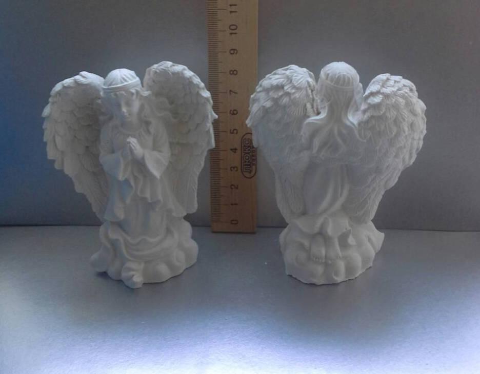 Гипсовая фигурка для раскрашивания статуэтка. Гіпсова фігурка для розмальовування. Ангел с крыльями