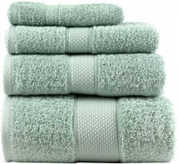 Набор банных махровых полотенец мятный (2 банных+2 для лица) ТТ1020