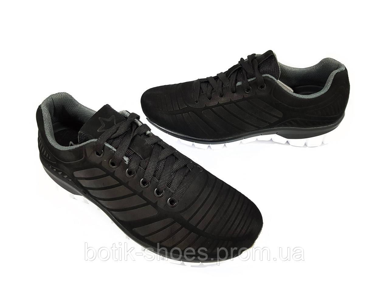 Кросівки Чоловічі Шкіряні Демісезонні Чорні 45 Розмір Мида 110936 ... 84c2f915316ba