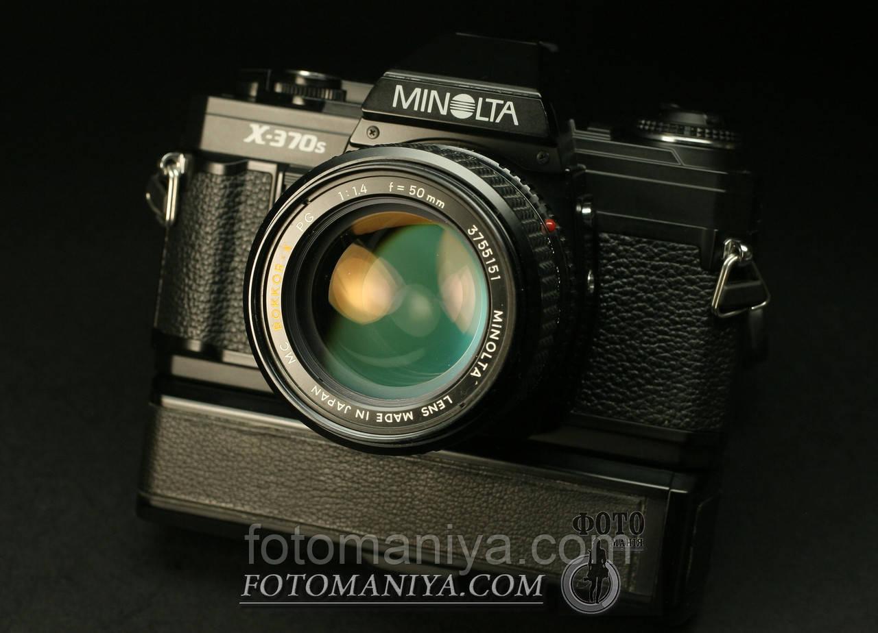 Minolta X-370s  Minolta MC Rokkor-X 50mm f1,4 + Minolta winder G