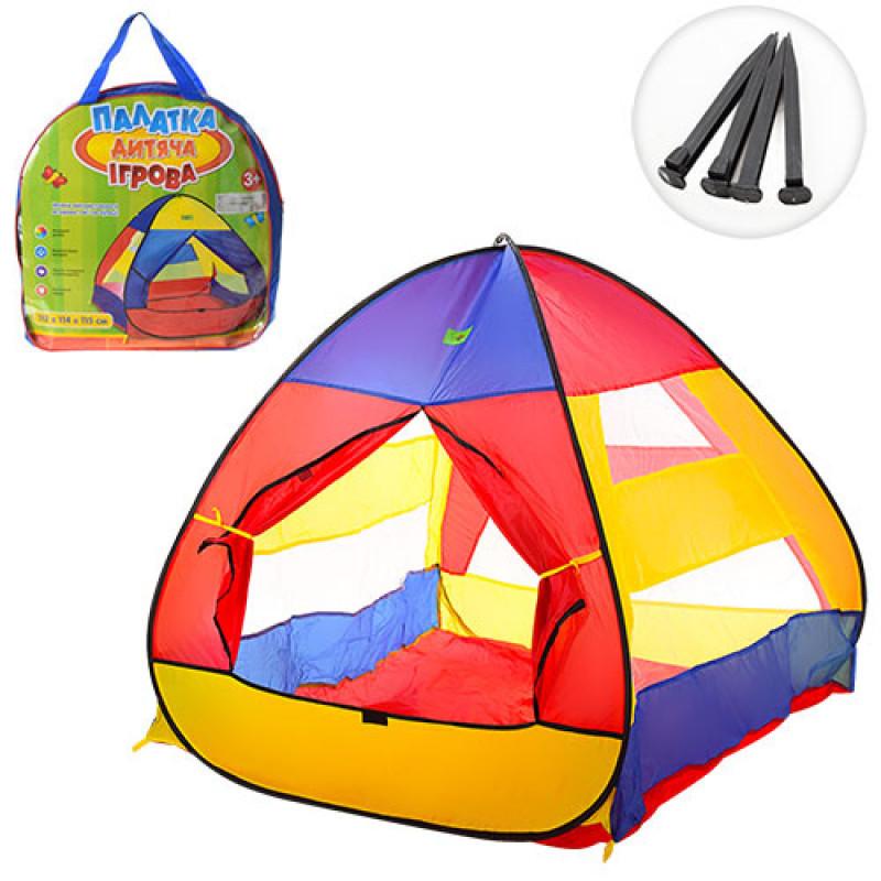 """Палатка детская игровая классическая пирамида """"Волшебный домик Пирамида"""", размер 112-114-115 см,  M 3306"""