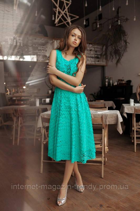 Летнее платье миди в расцветках 01256